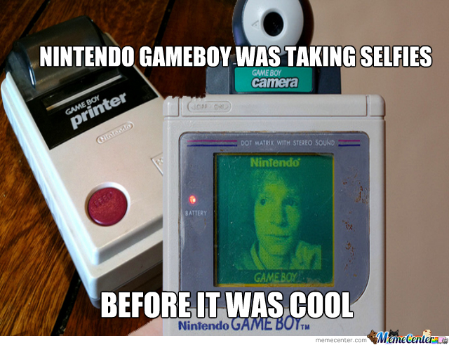 gameboy selfies