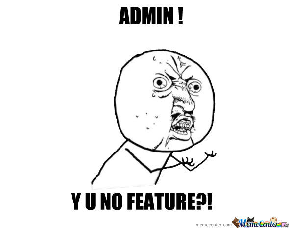 Seriously,admin