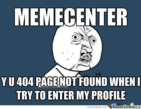 Seriously, I Want To See My Profile!