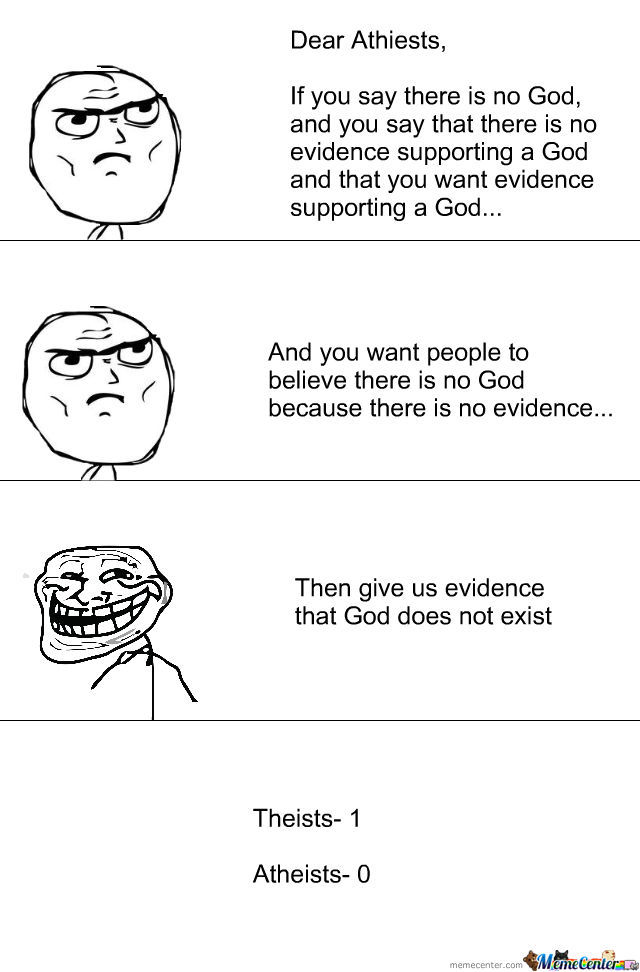 Seriously, Your So Stuck Up On Evidence Of No God. Give Us Some On Your View.
