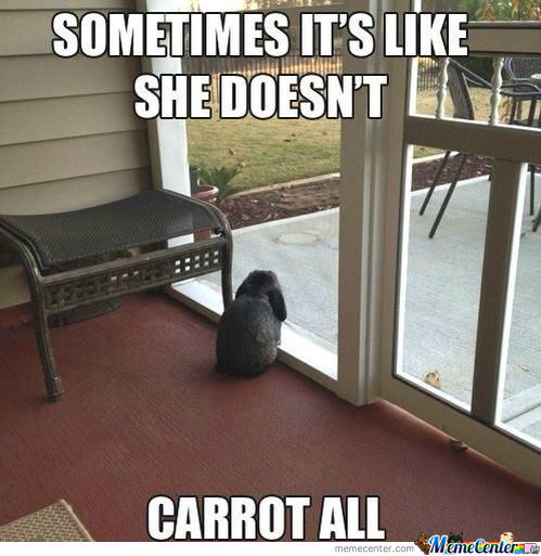 She Doesn't Carrot All