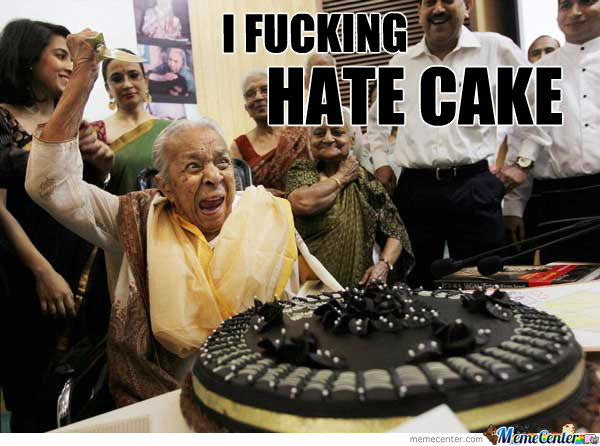 He F*cking Hates Cake
