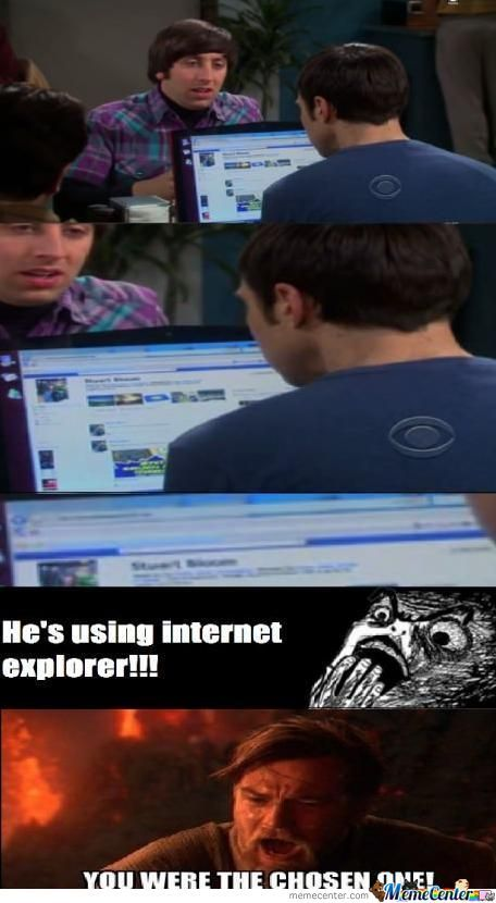 Sheldon Uses Ie