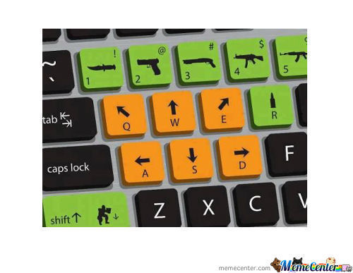Shooting Gamers...keyboard