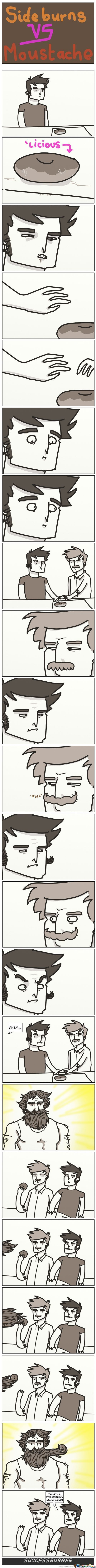 Sideburns Vs. Moustache
