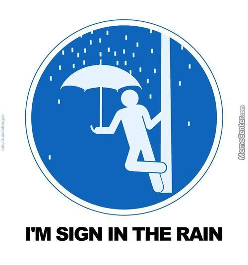 Sign In The Rain