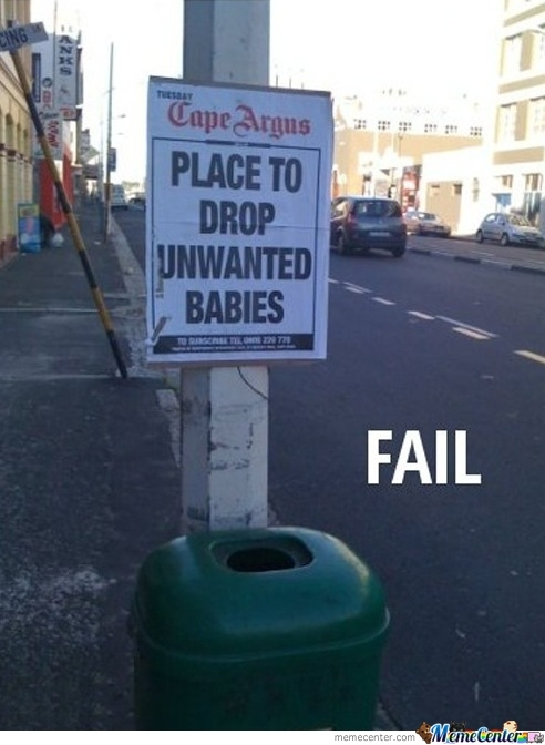 Sign Placement Fail