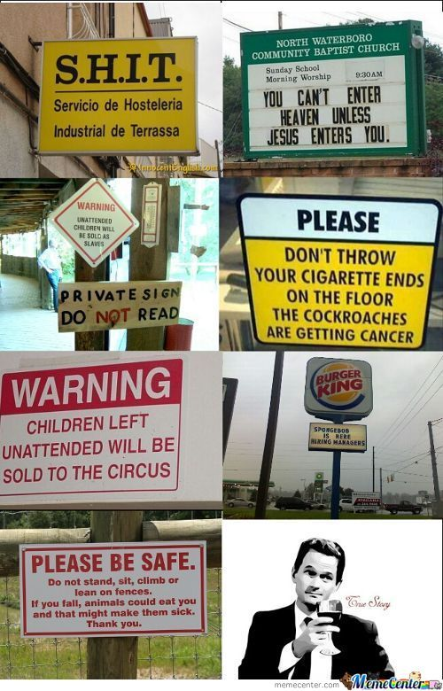 Signs....signs Everywhere