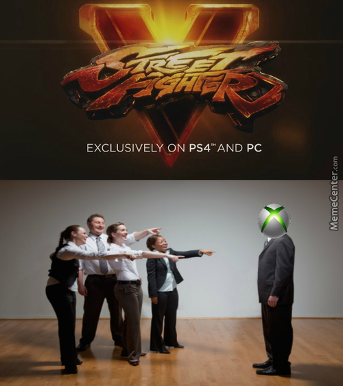 Silly Xbox, Street Fighter Is For Good Consoles!