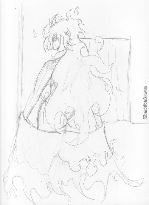 Simple Sketch # 5: Sin Ready To Perform