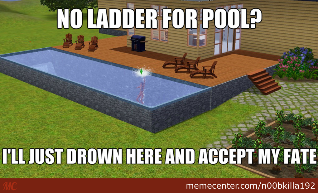 Image result for Pool Ladder in the Sims No Meme
