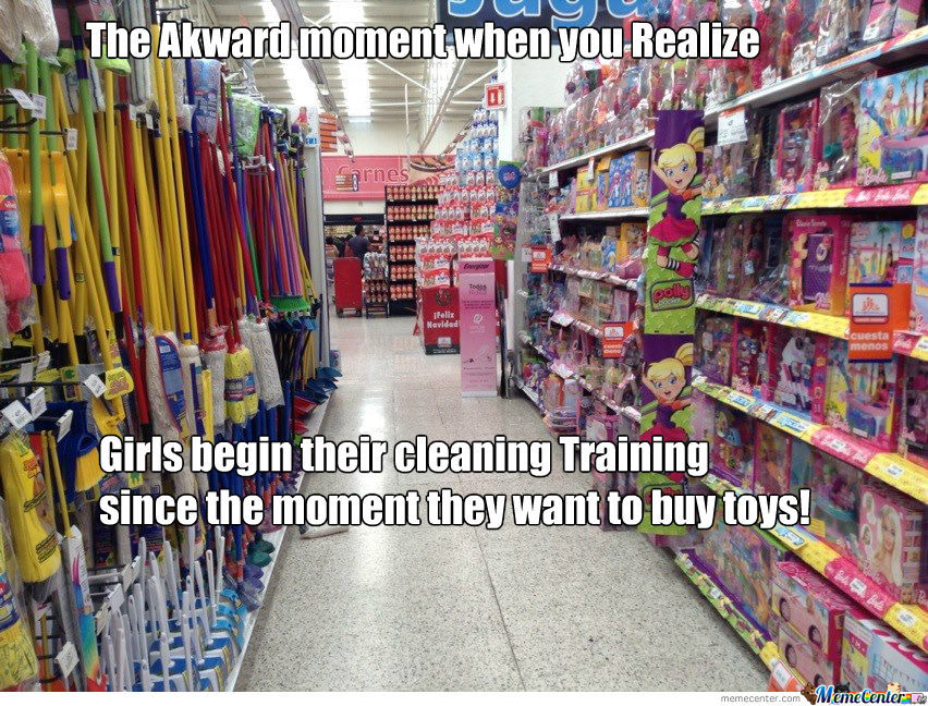 Since Girls Their Purpose Is To Clean