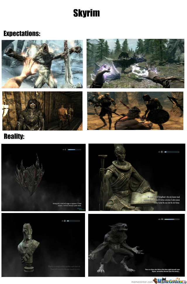 Skyrim Expectations And Reality!