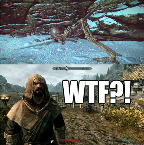 Skyrim Skeletons Are Into Some Kinky Shit These Days