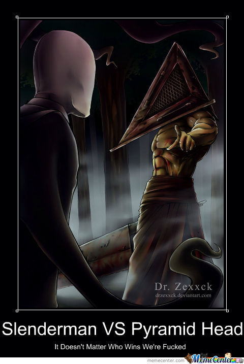 Slenderman Vs Pyramid Head