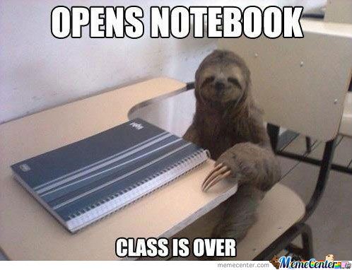 Sloth In Class
