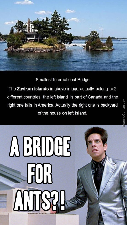 Smallest International Bridge
