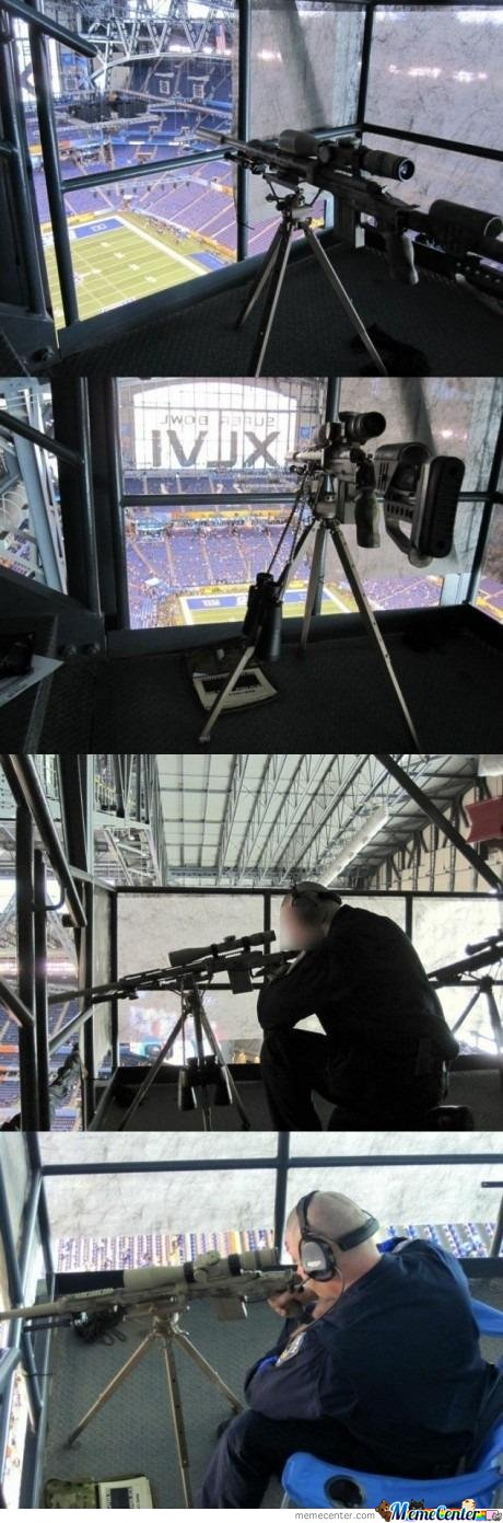 Sniper Security At The Superbowl