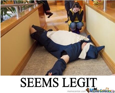 Snorlax Blocking The Path, Seems Legit!