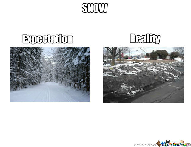 Snow Expectation Vs Reality