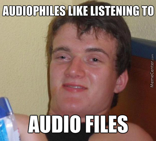 So Basically Everyone's An Audiophile