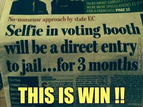 So...election Is Going On In India And I Find This On Newspaper....india Ftw
