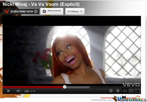 So I Paused A Nicki Minaj Video. Not Funny Guys.