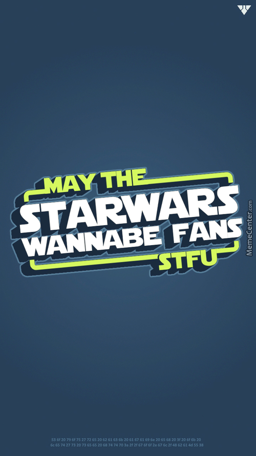 So ... Today Is Star Wars Day ...