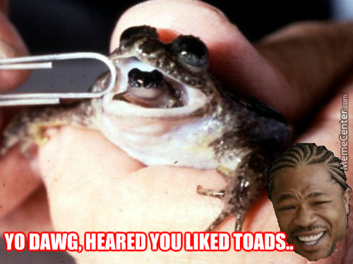 So We Put A Toad In Your Toad So You Can..