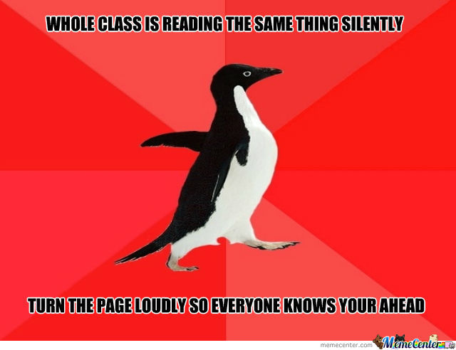 Socially Awesome Penguin by dullersmile1107 - Meme Center