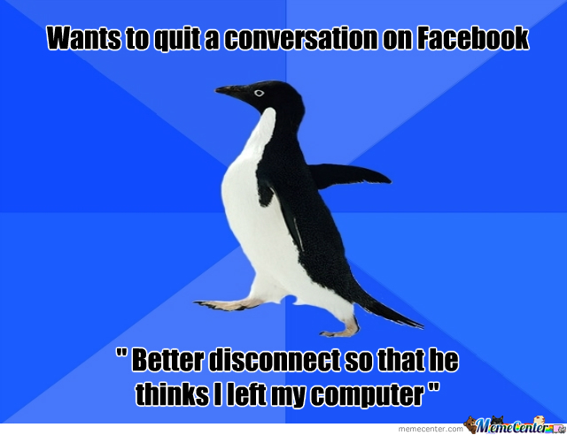 Socially Awkward Penguin Hates Facebook