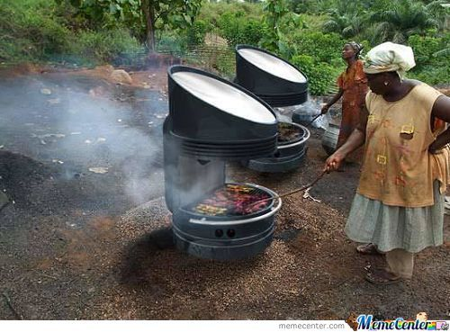 Solar Grill (Requires No Use Of Firewood, Coal, Gas Or Electricity To Operate)