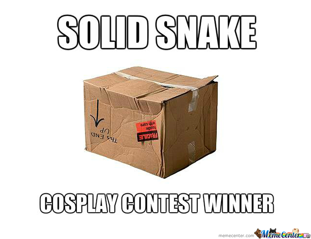 Solid Snake Cosplay Contest Winner