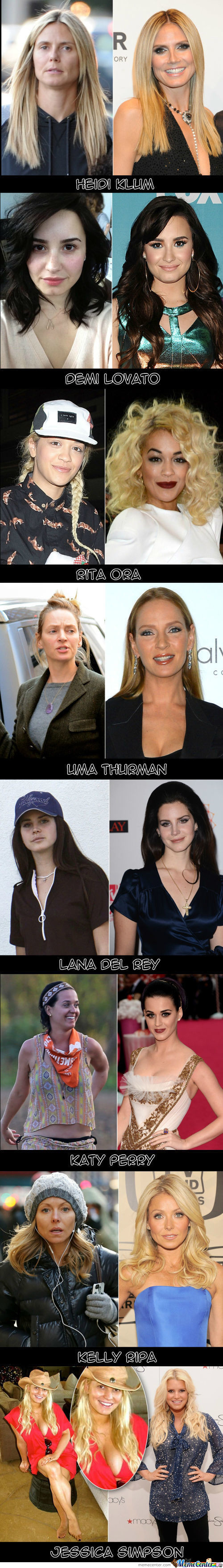 Some Celebrities Without Makeup Part 2