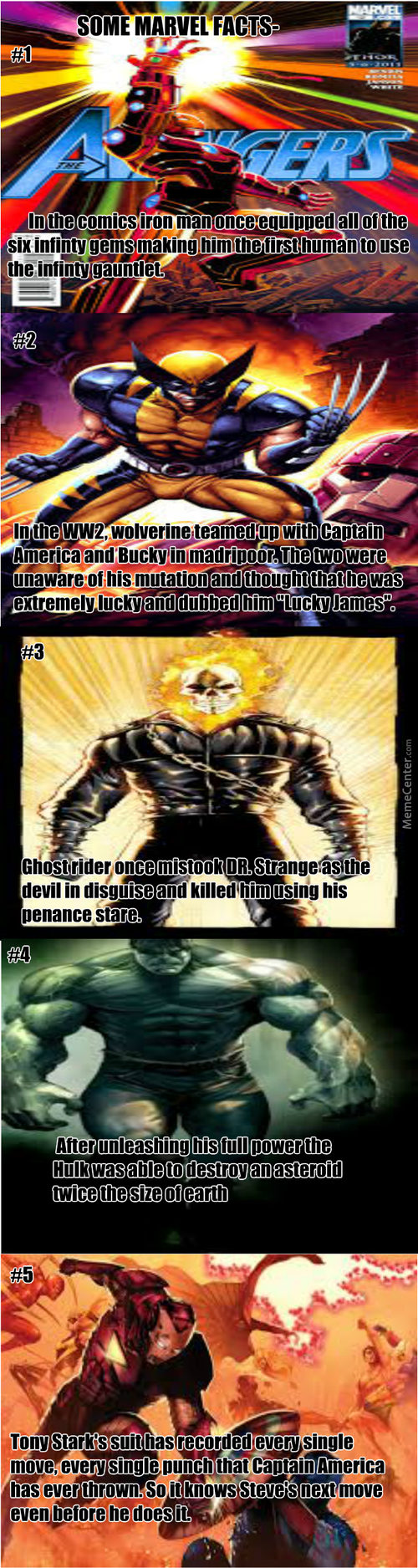 Some Marvel Facts (I Got These From Wanaang.net)