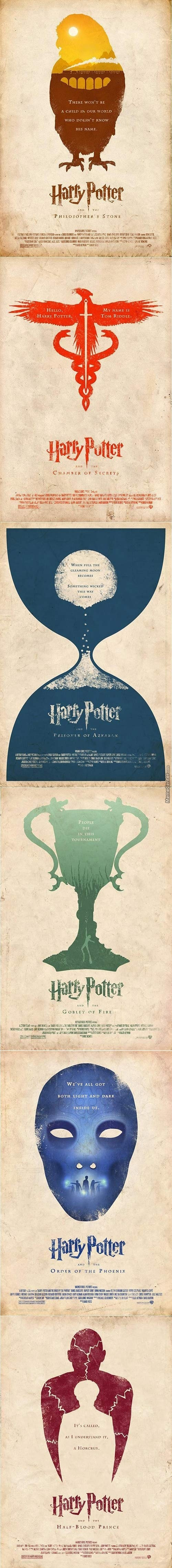 Some Minimalist Harry Potter Posters