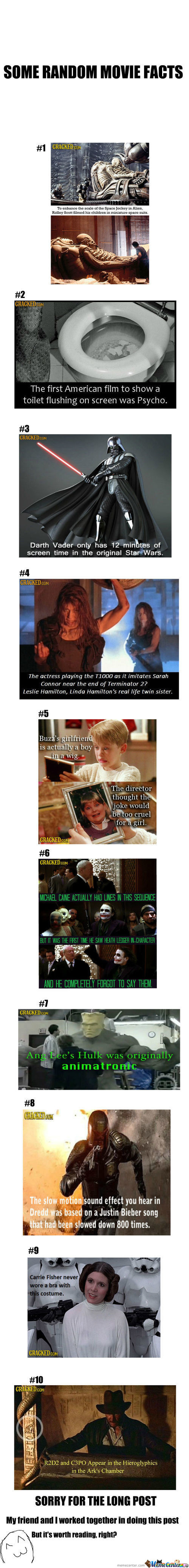 Some Random Movie Facts(Sorry For The Long Post)