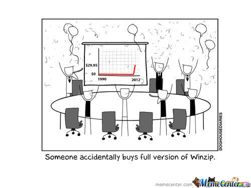 Someone Accidentally Buys Winzip