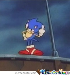 Sonic Used Middle Finger