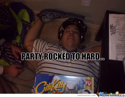 Sorry For Party Rocking...