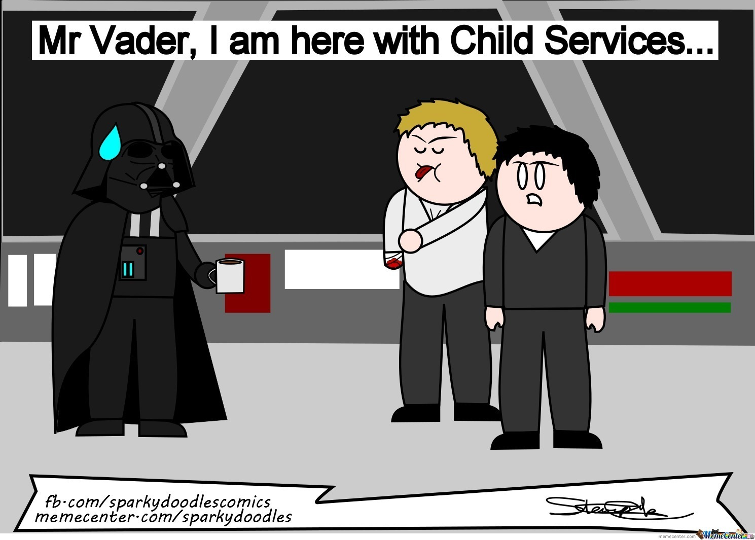 Sparky Doodles: Alt Ending To Star Wars
