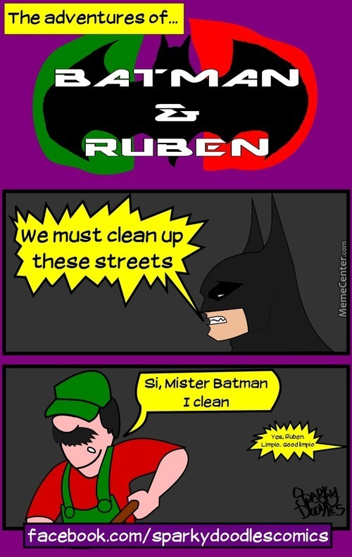 Sparky Doodles: Batman And Ruben
