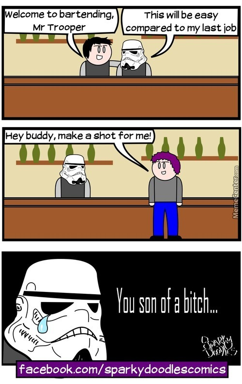 Sparky Doodles: Stormtrooper Career Change