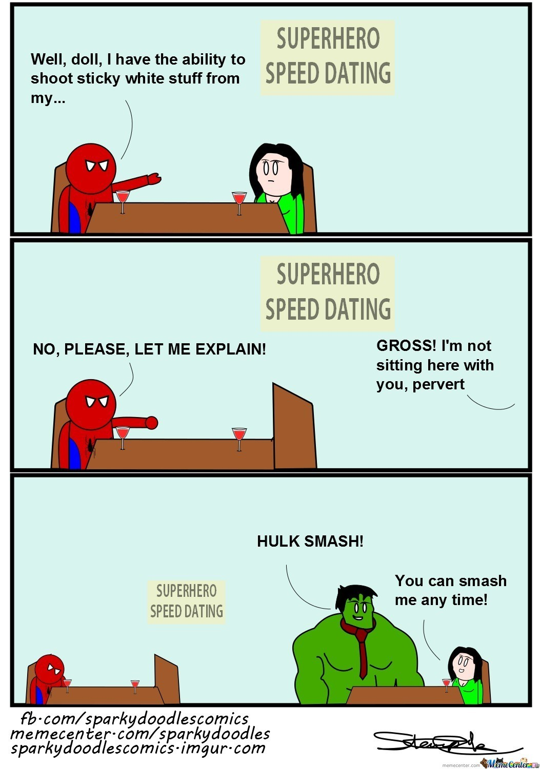 Sparky Doodles: Superhero Speed Dating