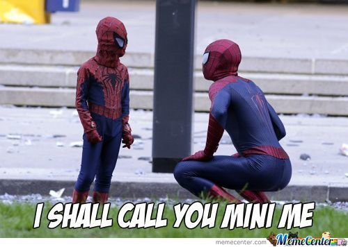 Spiderman And Mini Spiderman