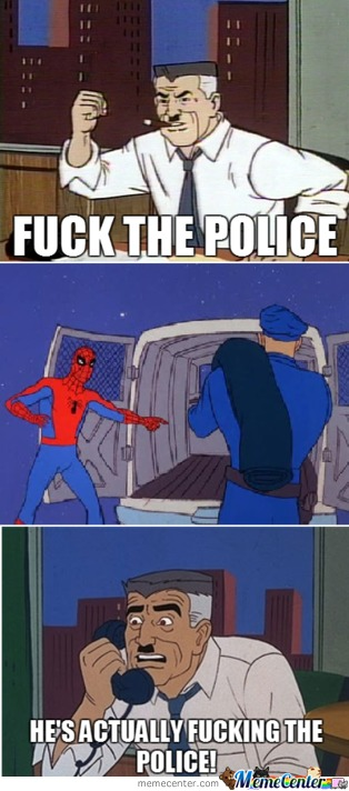 Spiderman-F*ck The Police