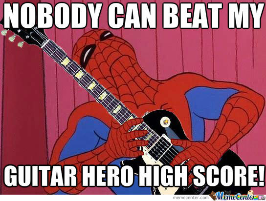 Spiderman The Guitar Hero