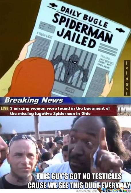 Spidey Jailed