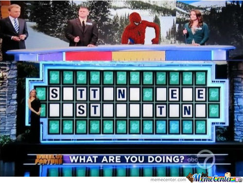 Spidey On Wheel Of Fortune