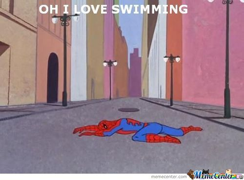 Spidey Swims